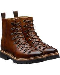 Grenson - Tan Grain Leather Brady Hiker Boots - Lyst