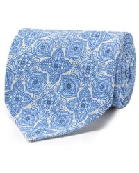 c21314e510c9 Francesco Marino - Light Blue And White Silk And Cotton Handrolled Tie -  Lyst
