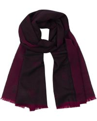 Gieves & Hawkes - Dual Burgundy Cashmere Crown Print Jacquard Knitted Scarf - Lyst