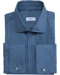 Marol - Astaire Denim Tuxedo Shirt - Lyst