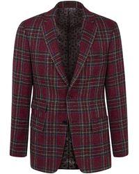 New & Lingwood - Red Tartan Hockliff Single-breasted Jacket - Lyst