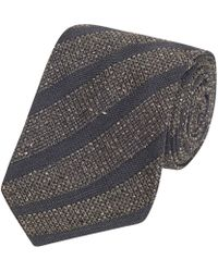 Fumagalli 1891 - Grey And Navy Stripe Malibu Wool And Silk 5-fold Tie - Lyst
