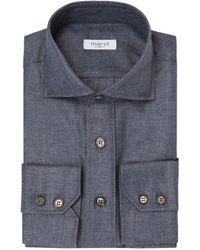 Marol - Grey Silk And Cashmere Safari Shirt - Lyst