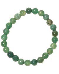 Jan Leslie - Green Agate Bead Elasticated Bracelet - Lyst
