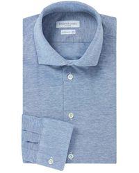 Richard James - Blue Cotton Piquet Shirt - Lyst