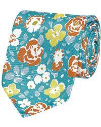 Salvatore Piccolo - Flower Pattern Silk Tie - Lyst