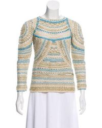 Isabel Marant - Metallic Crochet Sweater W/ Tags - Lyst