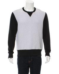 Timo Weiland - Quilted Crew Neck Sweatshirt - Lyst