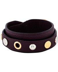 Louis Vuitton - Studded Leather Wrap Bracelet Purple - Lyst