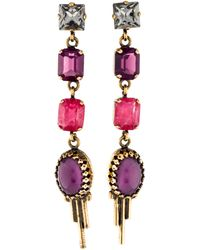 Emilio Pucci - Crystal Drop Earrings Gold - Lyst