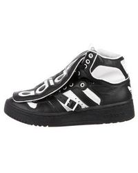 c3c243f9bd3f Lyst - Jeremy Scott For Adidas Leather High-top Sneakers in Black ...