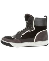 Lanvin - Round-toe High-top Sneakers - Lyst