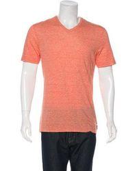 Michael Kors - Linen-blend T-shirt W/ Tags Orange - Lyst