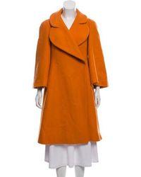 Sonia Rykiel - Knee-length Wool Coat Orange - Lyst
