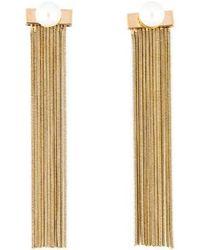 Jason Wu - Faux Pearl Waterfall Earrings Gold - Lyst