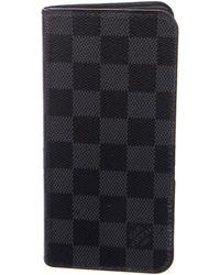 Louis Vuitton - 2016 Damier Graphite Iphone 6 Plus Folio - Lyst