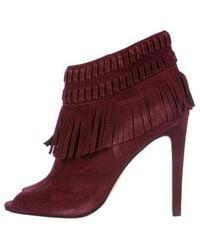 8c5cc35ad19915 Rebecca Minkoff - Rio Tassel Ankle Booties Burgundy - Lyst