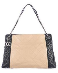 c18a86aa3372 Lyst - Chanel Large Chic Caviar Shopping Tote Silver in Metallic