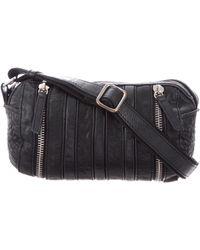 Maje - Grained Leather Crossbody Bag Black - Lyst