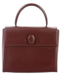Cartier - Leather Handle Bag Gold - Lyst
