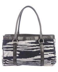 Missoni - Printed Terrycloth Shoulder Bag Grey - Lyst