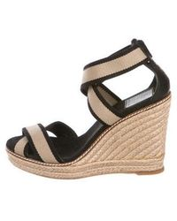 db06a9f6f Lyst - Tory Burch Cork Wedge Sandals in Brown