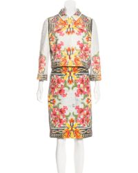 Givenchy - Printed Tweed Skirt Suit - Lyst