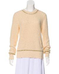 Raquel Allegra - Trimmed Sweater - Lyst