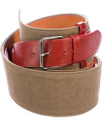 Dries Van Noten - Embellished Leather And Canvas Wrap Belt Tan - Lyst