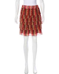 Anna Sui - Ruffled Mini Skirt - Lyst