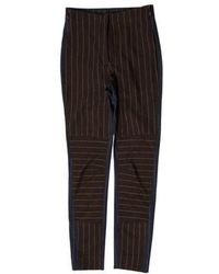 Sophie Theallet - Pin-stripe Mid-rise Pants Navy - Lyst