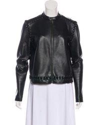 Lanvin - Leather Zip-up Jacket - Lyst