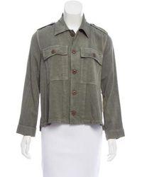 AMO - Shirt Button-up Jacket Olive - Lyst