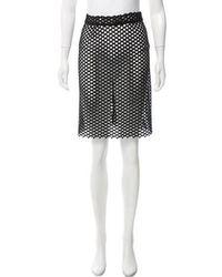 Veronique Leroy - Guipure Lace Knee-length Skirt - Lyst