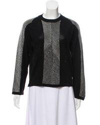 Edun - Embellished Knit Sweater Black - Lyst