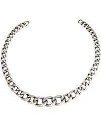 Tom Binns - Still Life Chain Collar Necklace Silver - Lyst