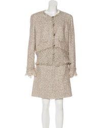 Chanel - Lesage Tweed Skirt Suit Multicolor - Lyst