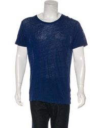 IRO - Linen Short Sleeve T-shirt Royal - Lyst