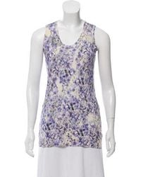 Giambattista Valli - Silk-cashmere Floral Print Sweater - Lyst