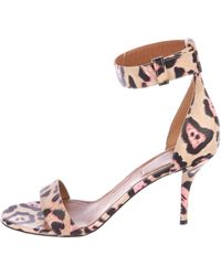 87a3b867c42 Givenchy - Leather Ankle Strap Sandals Tan - Lyst
