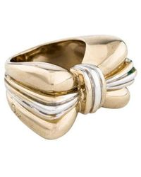 Dior - Bow Cocktail Ring Gold - Lyst