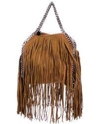 a1ab49c9b1c Lyst - Stella Mccartney Shaggy Deer Falabella Shoulder Bag Beige in ...