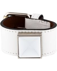 Proenza Schouler - Ps11 Leather Bracelet Silver - Lyst