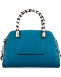 BVLGARI - Serpenti Snakeskin Scaglie Boston Satchel W/ Tags Blue - Lyst