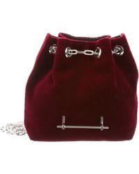 M2malletier - Velvet Mini Bucket Bag Red - Lyst