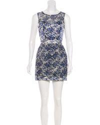 Timo Weiland - Sleeveless Printed Silk Dress - Lyst