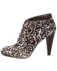 Tod's - Ponyhair Lace-up Ankle Boots - Lyst