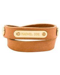 Rachel Zoe - Leather Wrap Bracelet Gold - Lyst