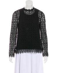 R/R Studio - Crochet Long Sleeve Top - Lyst