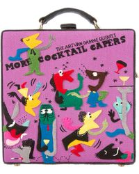 Olympia Le-Tan - More Cocktail Capers Bag Purple - Lyst